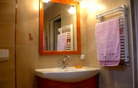 """pierwsza łazienka dla gości w """"Domu u Gospodarzy"""""""